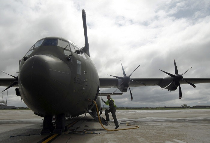 An RAF C-130 Hercules aircraft is being deployed by the UK government to ensure aid workers in the Philippines can reach remote areas in need of help. (Reuters)