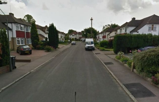 A murder inquiry is underway after the body of a man was found in a well in Audley Drive, Warlingham. (Pic: Google).