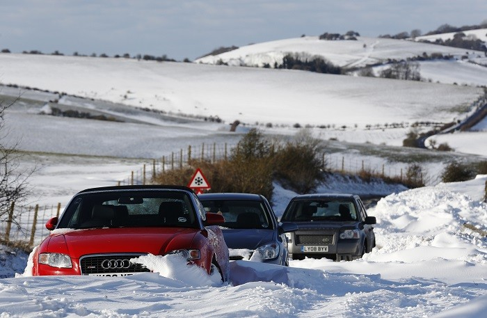 Six inches of snow are expected in parts of the UK next week when an Arctic blast brings freezing temperatures and bitter winds. (Reuters)