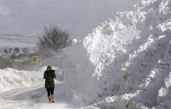 The east and southwest of England, west Wales, Scotland and Northern Ireland are most at risk of snow next week. (Reuters)