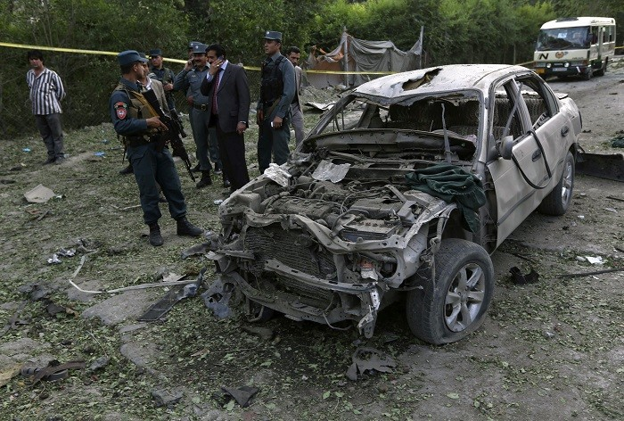 At least ten people have killed in Kabul after a suicide bomber detonated a car filled with explosives. (Reuters)