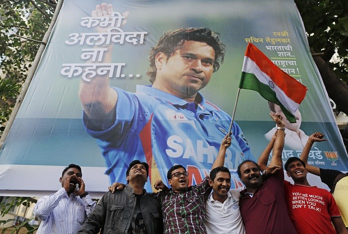 Thousands of fans watched Sachin Tendulkar play his farewell Test match against the West Indies. (Reuters)