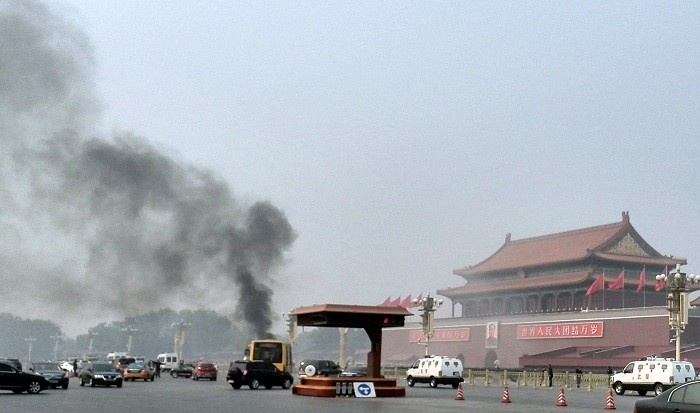 Five people were killed in a suspected suicide attack in Beijing's Tiananmen Square in October. (Reuters)
