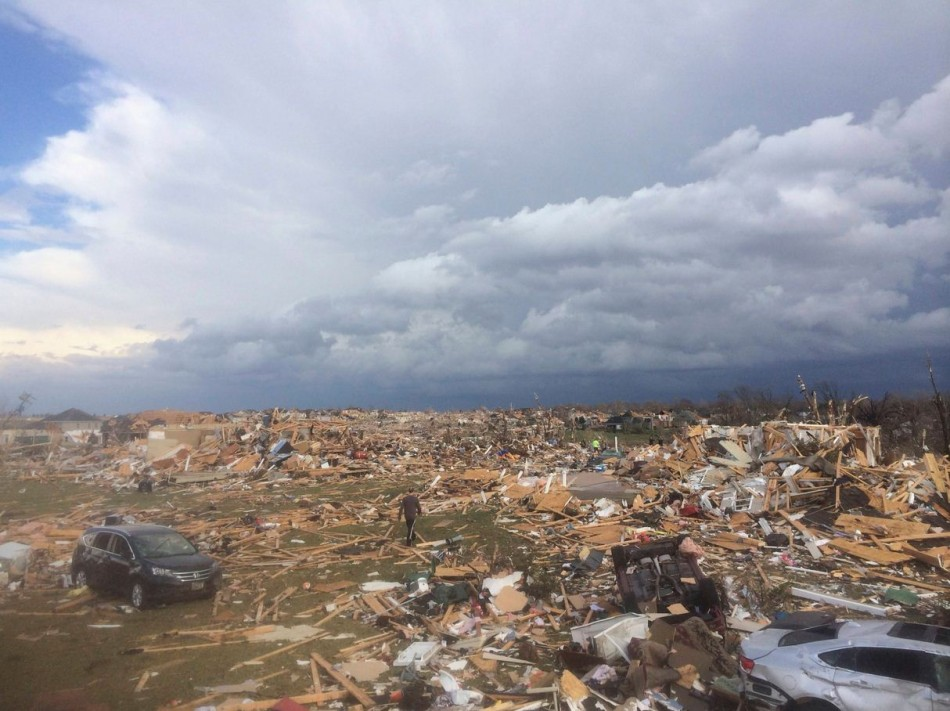 Extensive damage is pictured aftermath of tornado. (Photo: Reuters)