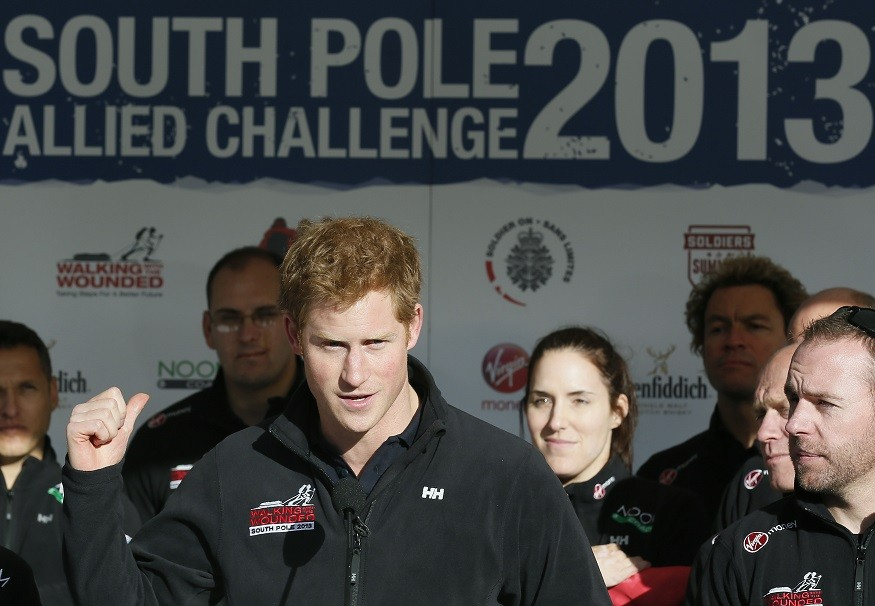 Prince Harry with South Police team PIC: Reuters