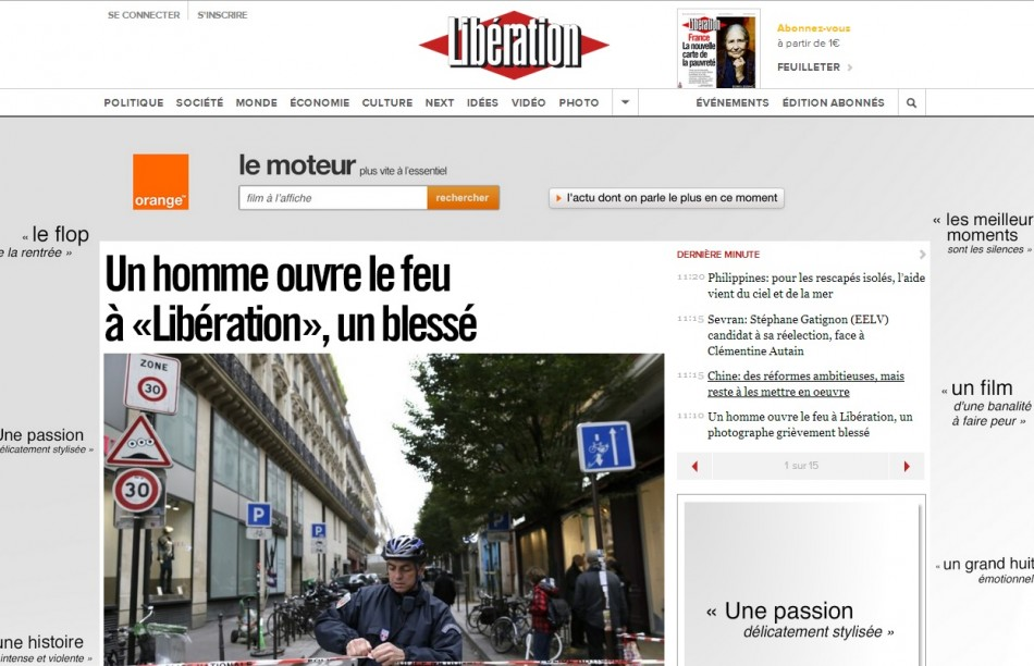 Liberation frontpage