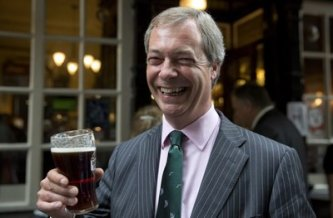 Farage has something to drink to