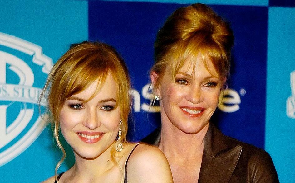 "American actress Dakota Johnson has described Fifty Shades of Grey as ""an incredible love story."" Here seen with her mother  Melanie Griffith(Reuters)"