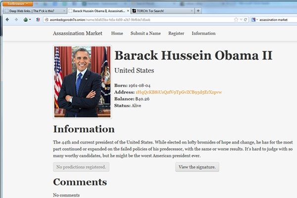 Assassination Market\' Website Offers Bitcoin Bounty to Kill Obama