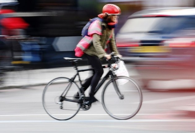 Cycling in London carries risk, as spike in road deaths has shown PIC: Reuters