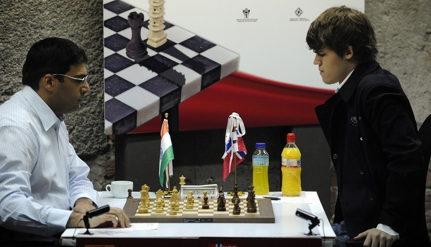 Carlsen previously played against  Viswanathan Anand during the Bilbao Final Masters 2010