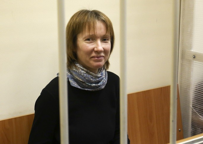 Yekaterina Zaspa released on bail ahead of trial of Arctic Sunrise activists PIC: Reuters