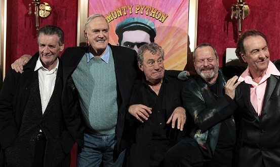 The group appeared togtehr at the premiere of the documentary Monty Python: Almost The Truth (Lawyer's Cut) in New York October 15, 2009 (Reuters)