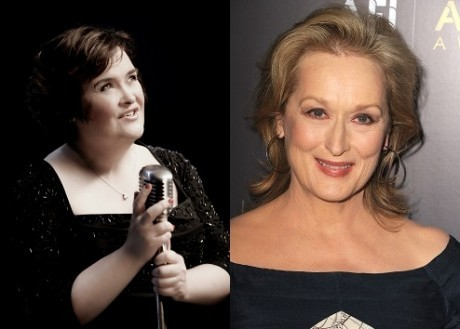 Susan Boyle and Meryl Streep