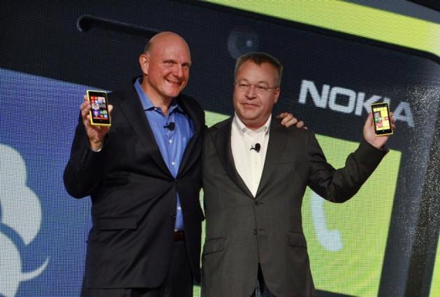 Steve Ballmer and Stephen Elop