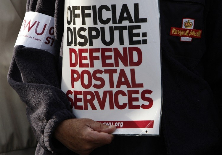 Royal Mail shares CWU