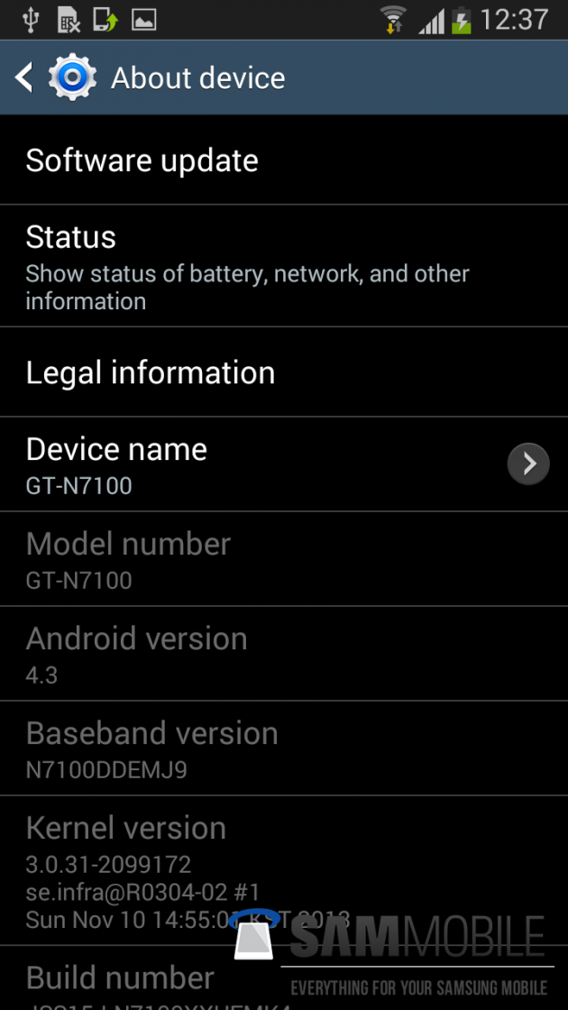 Root Galaxy Note 2 (LTE) N7105 on Official Android 4.3 XXUEMK5 Jelly Bean Firmware [GUIDE]