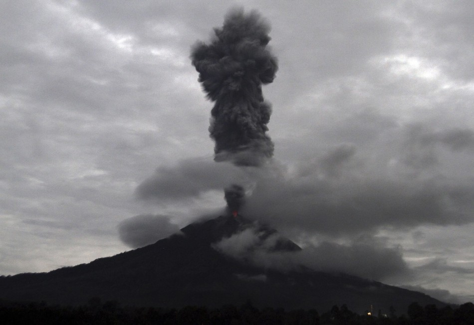 Sinabung has been spewing lava for three days (Reuters)