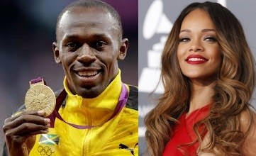 Usain Bolt and Rihanna