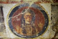 A fresco is pictured inside the catacomb of Priscilla in Rome November 19, 2013. (Photo: REUTERS/Max Rossi)