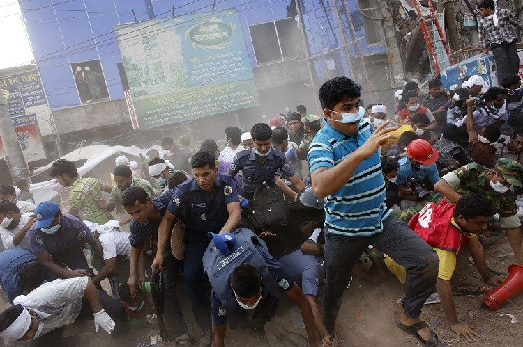 The collapse of the Bangladeshi Rana Plaza factory killed 1,100 people (Photo: Reuters)