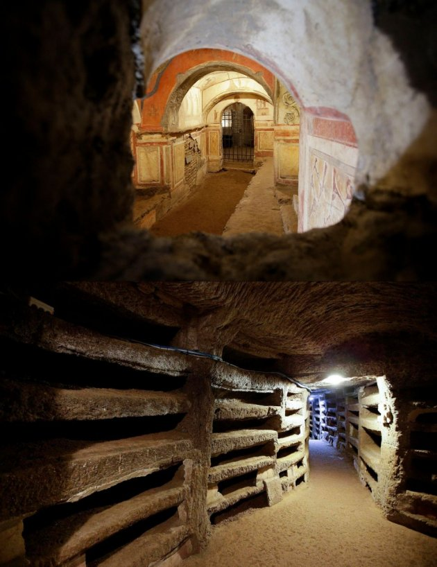 A view shows the catacomb of Priscilla in Rome. (Photo: REUTERS/Max Rossi)