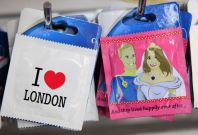 Unofficial souvenir condoms featuring images of Prince William and Kate Middleton ahead of their wedding in April 2011. UK scientists have won Bill Gates' challenge to develop thinner and stronger condoms ever. (Photo: REUTERS/Stefan Wermuth)