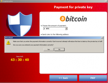 CryptoLocker Ransomware Trojan is paid by Bitcoins