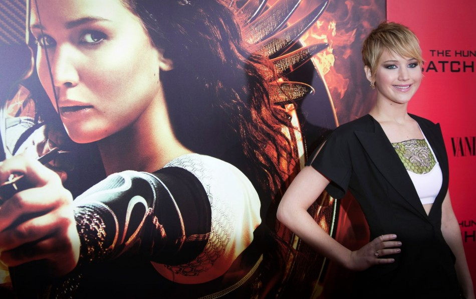 Jennifer Lawrence turned heads as she walked the red carpet for the premiere of her new film The Hunger Games: Catching Fire at the AMC Lincoln Square in New York City.(Reuters)