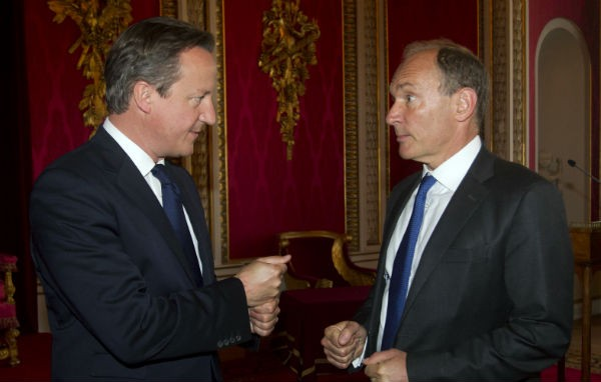 Sir Tim Berners-Lee and David Cameron