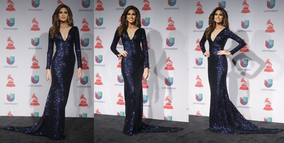 Gabriela Isler stuns in her figure-hugging evening gown at Latin Grammy Awards 2013. (Photo: REUTERS/Steve Marcus)
