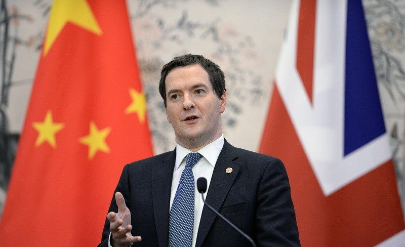 George Osborne in China