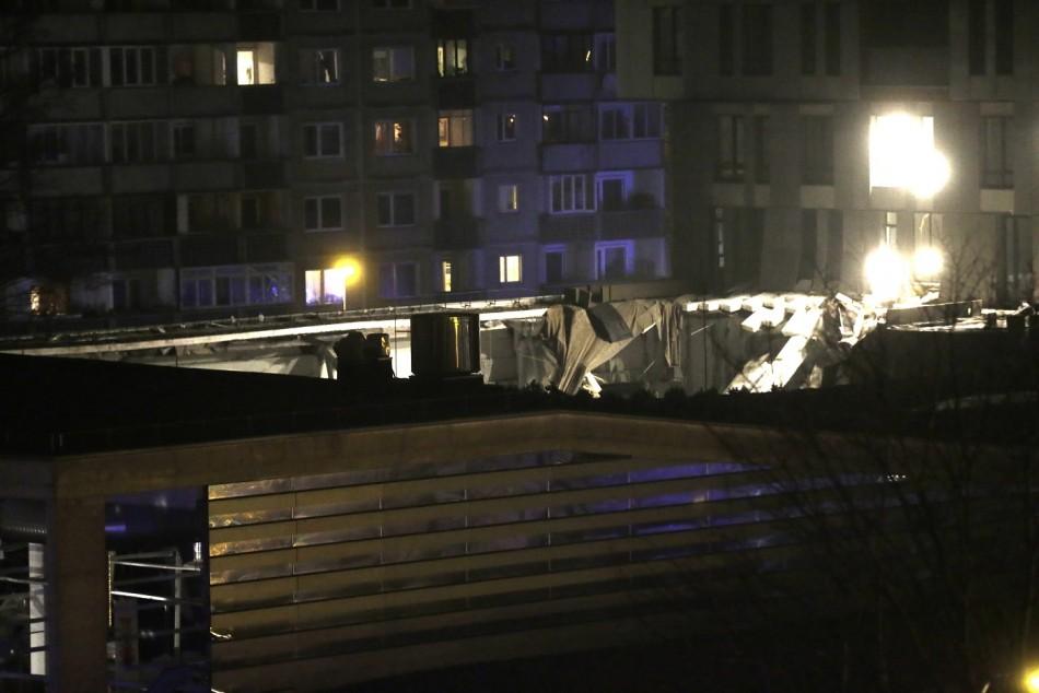 Latvia store collapse