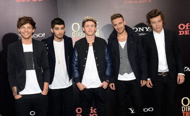 One Direction's Louis Tomlinson, Zayn Malik, Niall Horan, Liam Payne and Harry Styles