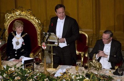 David Cameron at Lord Mayor's banquet