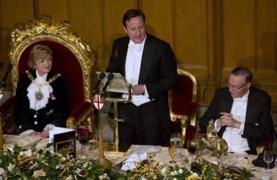 David Cameron at Lord Mayor's banquet