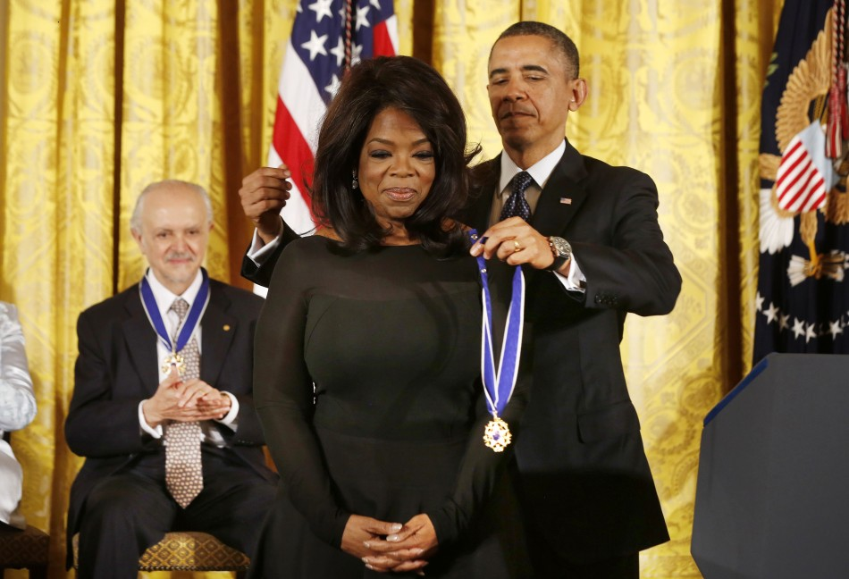 Oprah Winfrey awarded Presidential Medal of Freedom