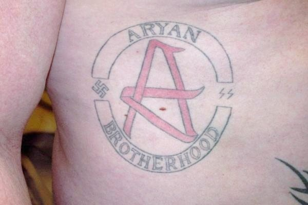 The Aryan Brotherhood are known for their distinctive tattoos (WikiComms)