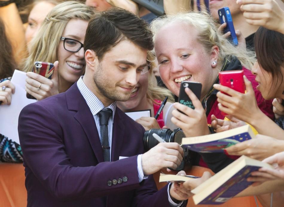 Daniel Radcliffe meets his fans