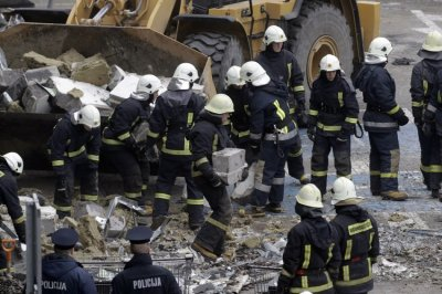 Latvia Supermarket Collapses Killing 32