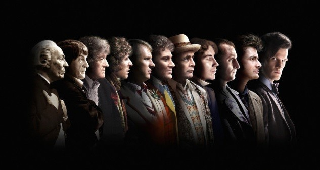Dr Who is (L-R) William Hartnell, Patrick Troughton, Jon Pertwee, Tom Baker, Peter Davison, Colin Baker, Sylvester McCoy, Paul McGann, Christopher Eccleston, David Tennant and Matt Smith