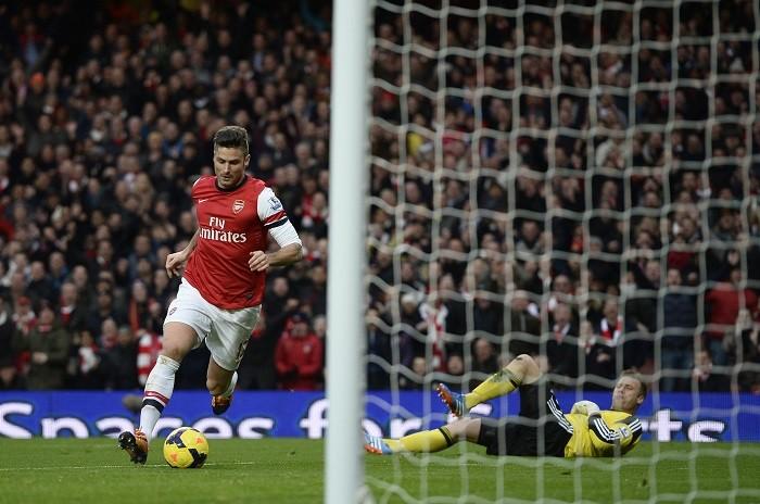 Olivier Giroud Arsenal Boruc Southampton