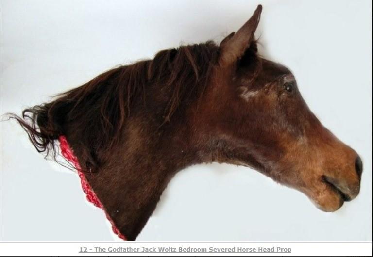 Godfather horse head prop