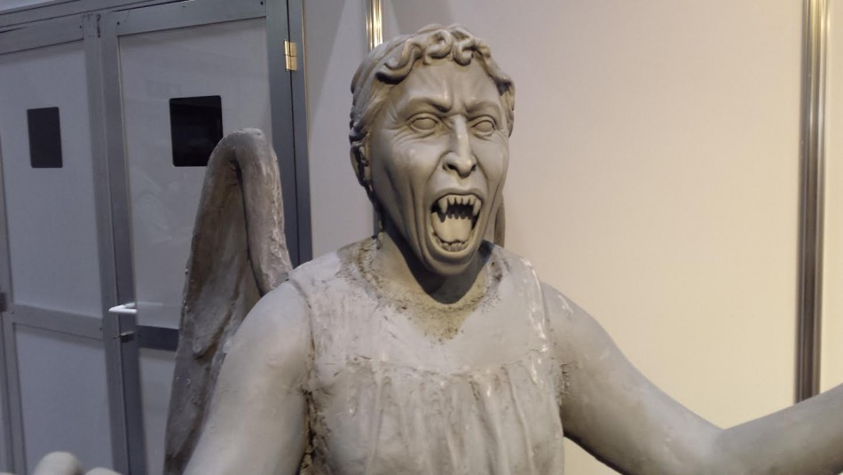 Doctor Who Weeping Angels for the Doctor Who 50th Anniversary Celebration in London (Photo: Donald Sinclair)