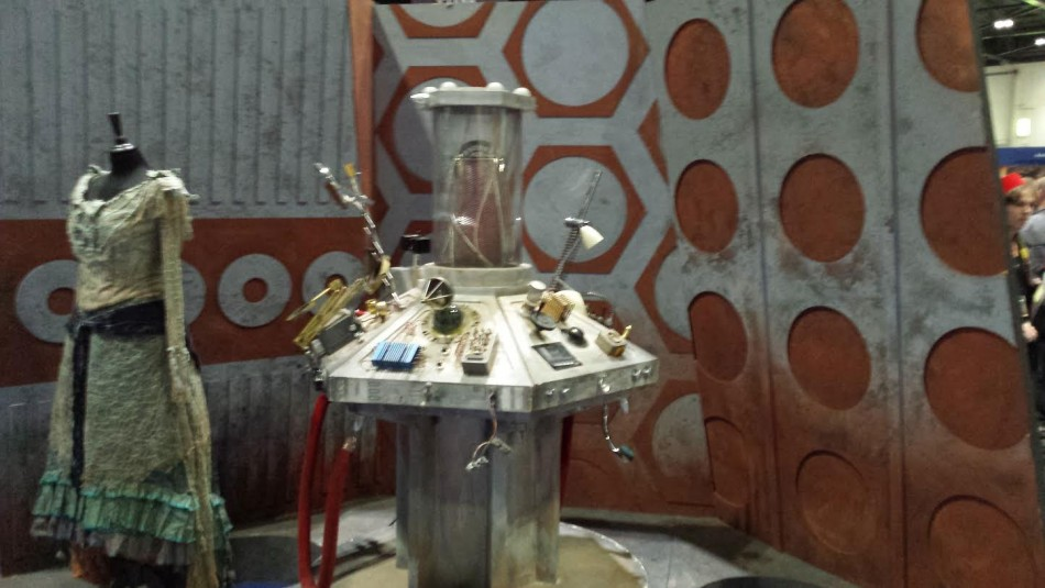 Doctor Who tardis console for the Doctor Who 50th Anniversary Celebration in London (Photo: Donald Sinclair)