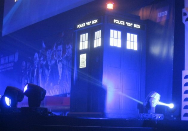 Doctor Who 50th Anniversary Celebration in London showcase the Tardis on stage (Photo: Donald Sinclair)