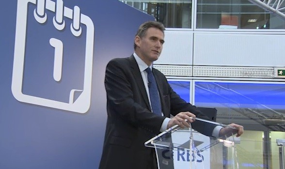 RBS's chief executive Ross McEwan, after he delivered a speech in Edinburgh only a few days ago promising to make RBS into a