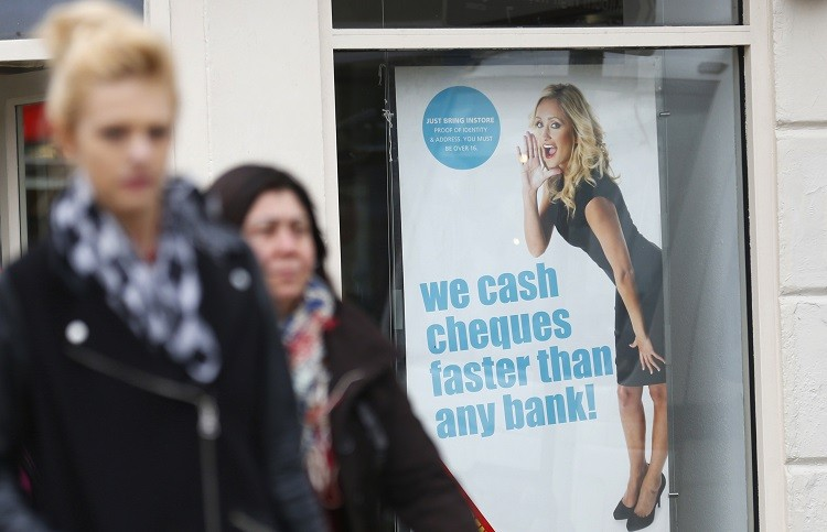 The UK payday lending sector, which is worth £2bn ($3bn, €2.3bn) in the UK. The sector in 2013 has doubled from that of 2008 to 2009. (Photo: Reuters)
