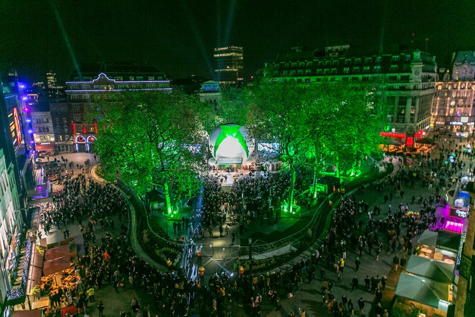 Xbox One launch in Leicester Square, London