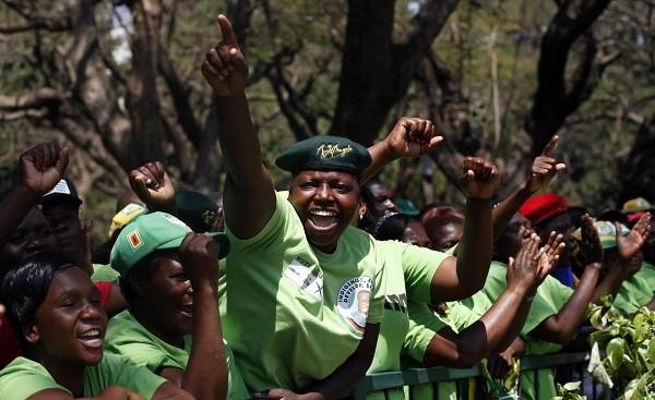 Mugabe supporters